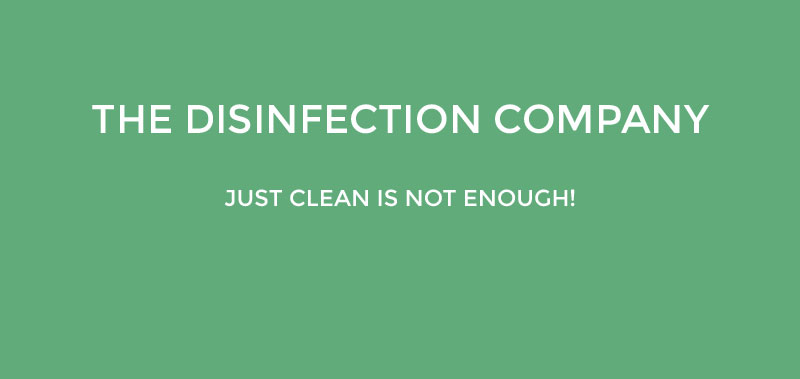 The disinfection compay, just clean is not enough